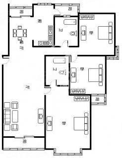 农村二层半自建房,面积140平方,正方形,如何设计一楼三房两厅,