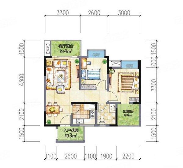 欧式装修,实际看房效果更佳,带入户花园,带两个阳台