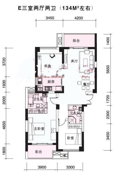 楼王位置 稀有户型 学区房送车位, 风雅钱塘二手房, 3室2厅2高清图片