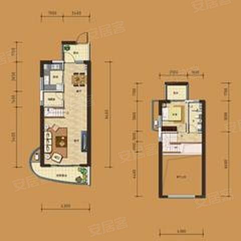 边套,loft户型,风雅乐府的房子对外出租了高清图片