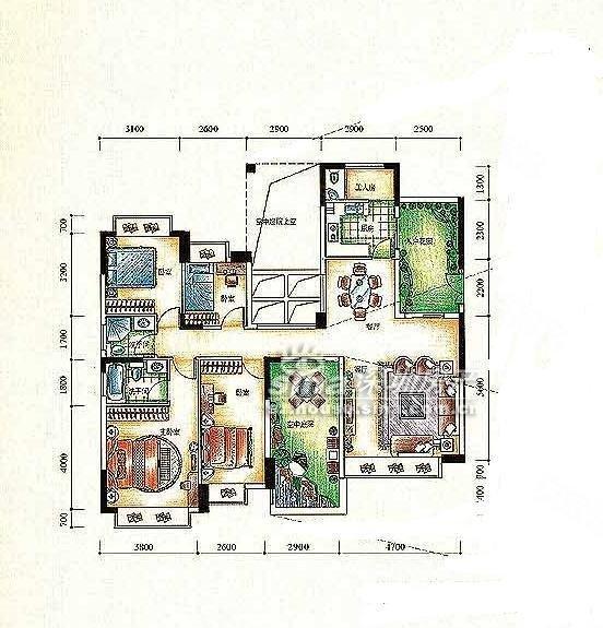 五年无税,可做两层,144平,精装四房,送空中花园