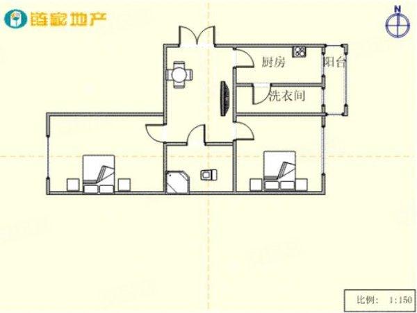 62万元, 二室南北通透,户型规整,多层,层高3.6米 急售