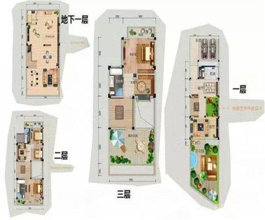 绿岛湖壹号 独栋别墅 首付98万 送2层地下室送百方花园