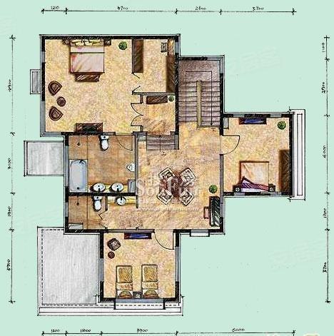 龙湾独栋别墅 现代豪华装修 下沉式花园全明地下室温泉入户