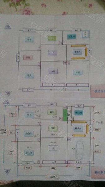 急急急求农村自建三间两层楼房设计图.带车库
