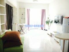 摩根公寓正宗一室一厅,精装修,双阳台落地窗,一梯三户
