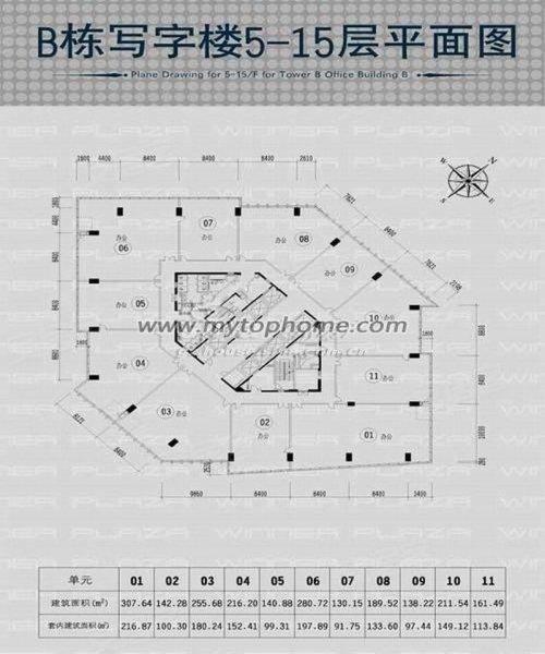 装修3个间格,富力盈泰广场写字楼出租,19328元 月,151平米,黄高清图片