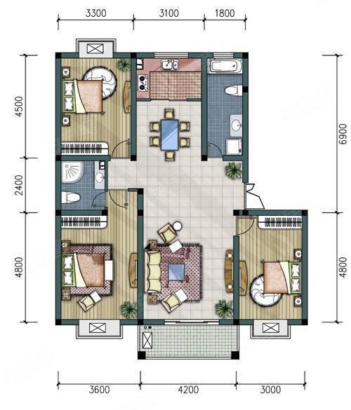 精装全配的大三房,就在成熟小区盛世嘉园,随时看房,急租