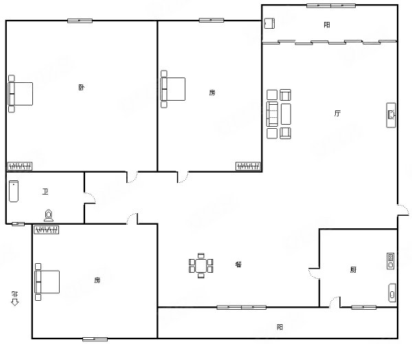 室内装修风格很温馨,适合优雅人士居住,3200元,江南明珠苑租房及高清图片