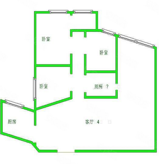 平面图 -银海大楼 160平米 漕宝路地铁口 房型正 办公装修,银海大楼高清图片