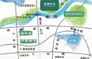 地址:城北蜀龙大道毗河大桥旁 -香洲半岛基本参数高清图片