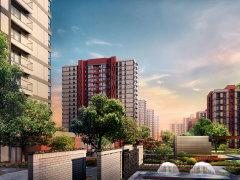 中式园林景观 中粮万科长阳半岛社区实景展示 –北京 图解楼