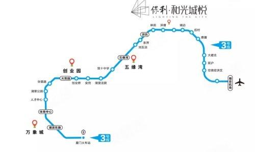 地铁三号线路线图