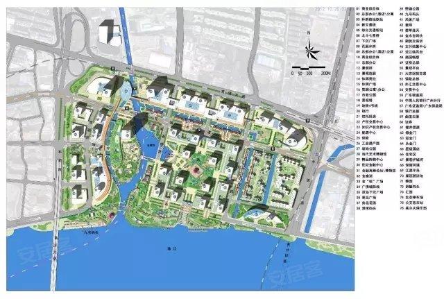 广州金融城交通规划图