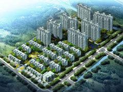 住宅,7幢高层住宅和孔巷路沿街商业构成.   中式园林风格景高清图片