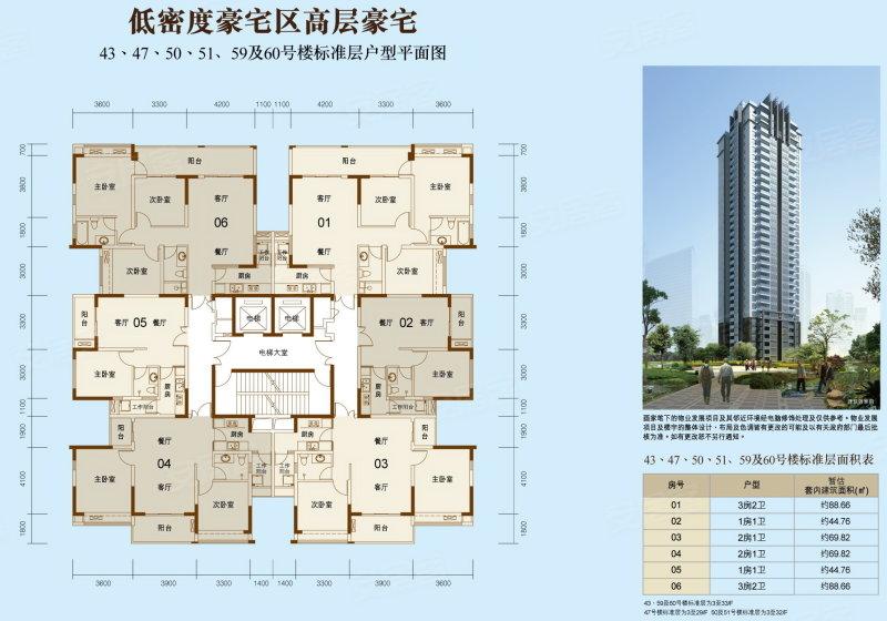 江城壹号 平面图
