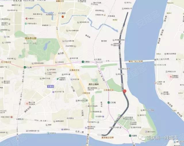 南岸区和沙区   的商业升级之路   南滨北段让人有所期待   图上按照规划,这里应该是这个样子的:   所以我们可以想象一下,北滨一路尚且如此,再加上北滨二路图片