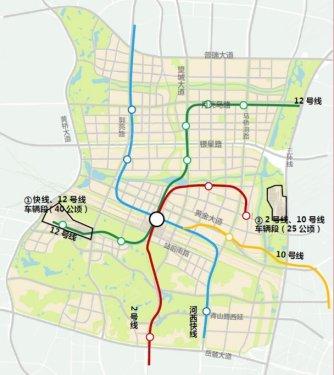 长沙河西火车站规划图