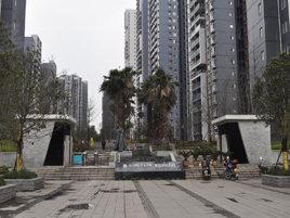 梁山华岩新城华龙大道,占地面积36万平方米,建筑面积43万平方高清图片