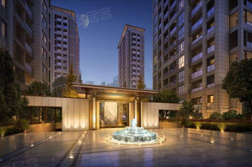 8.建筑风格采用新亚洲设计风格,外立面注重横向线条,采用大面积开窗.