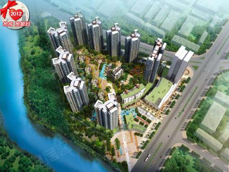 鸟瞰效果图 由8栋高层住宅楼 4栋多层住宅 1栋高层 1栋多