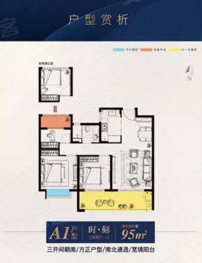阳台设计,采光一流也十分实用              还有独创的125㎡四房户型