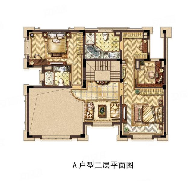 长方形地房平面图