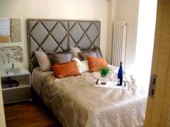 效果好.卧室内设计有大的衣柜和书桌,商务气息浓重.   立体