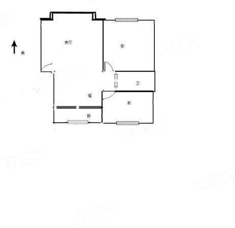 金祥奥邻郡2室2厅1卫80.51㎡南北57万