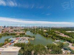 北京朝阳朝阳公园景观也太哇塞了吧!棕榈泉前排看湖景,南北通透3居!空房可配出租房源真实图片