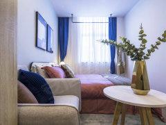杭州萧山北干白领公寓 24h安保 直达滨江 2号线旁 高层采光 北欧设计出租房源真实图片