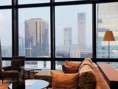 北京朝阳CBD国贸 嘉里公寓 带挑空复式三居 北京式公寓顶配出租房源真实图片