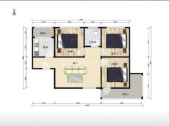 北京丰台大红门大红门东前街小区 3室1厅1卫出租房源真实图片