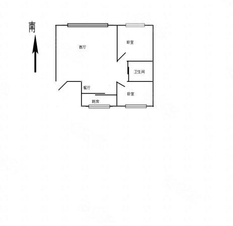 青阳华府2室2厅1卫80.18㎡南北70万