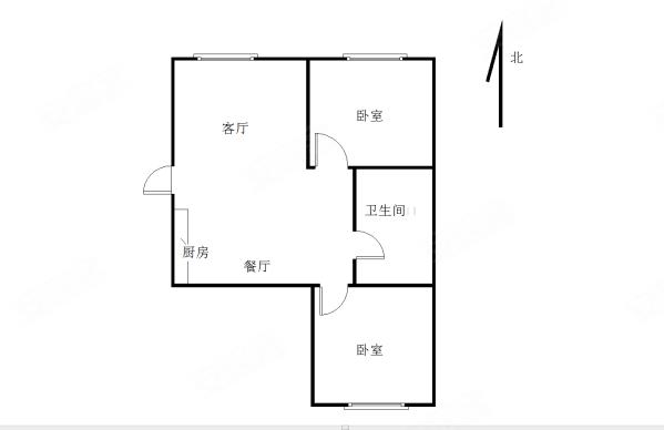 怡和街小區2室1廳1衛69.11㎡南北93萬