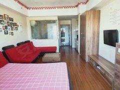 万达公寓B座+精装修+家具家电齐全+随时看房