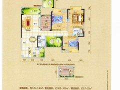 幸福公馆41户型 可做五个房出租 129平米精装修拎包可住