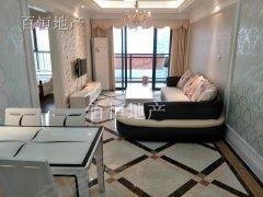 万达广场高楼景观房白色欧式系家私家电,干净温馨儒雅。