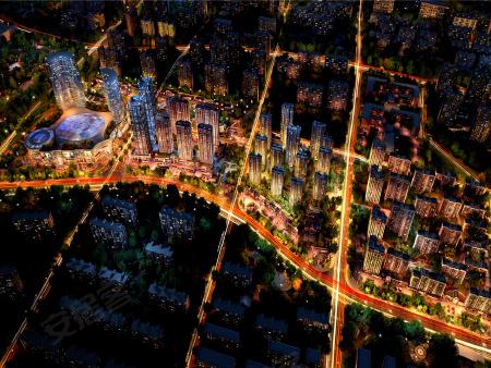 中华城鸟瞰效果图