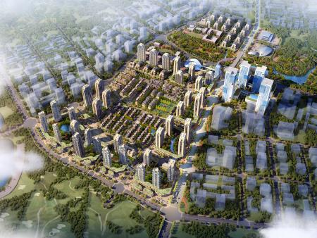 鲁能泰山7号鸟瞰图