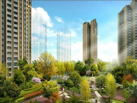 社区绿化--首创光和城规划效果
