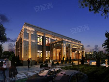 项目售楼处效果图已出炉,未来将规划为会所。