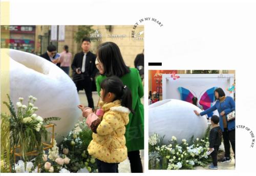 """巨型蝶茧占领奥体,杭州首场""""蝴蝶雨""""席卷全城"""